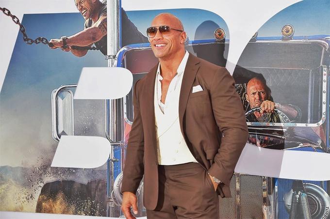 The Rock Dwayne Johnson tại lễ ra mắt phim Fast and Furious: Hobbs & Shaw.