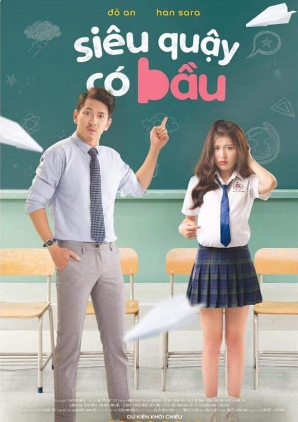 Đỗ An (trái) và Han Sara đóng chính trong phim.