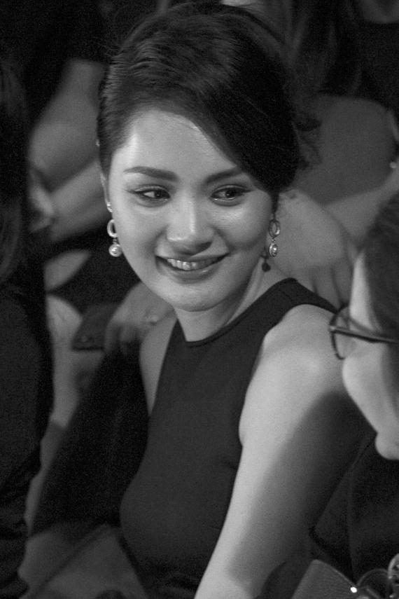 Hoa hậu Hương Giang đánh giá cao sự nỗ lực của Xuân Lan và êkíp khi tổ chức chương trình thường niên.