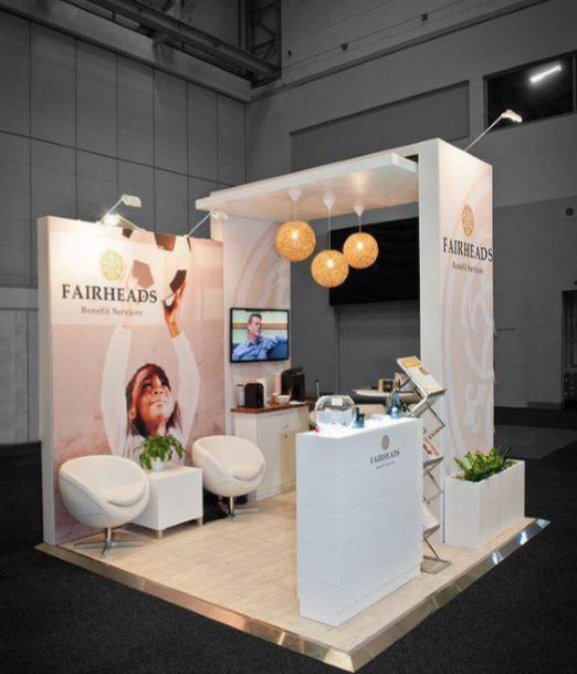 Booth triển lãm có thiết kế ấn tượng sẽ thu hút khách hàng tới tham quan.