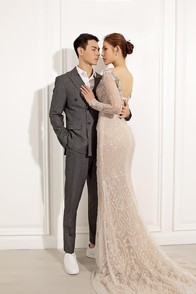 Chúng Huyền Thanh - Jay Quân sánh đôi BST váy cưới mùa thu của Marymy - 6