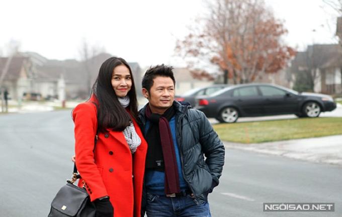 Hoa hậu Dương Mỹ Linh và ca sĩ Bằng Kiều khi còn yêu nhau.