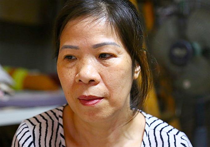 Bà Nguyễn Bích Quy tại nhà riêng trưa 27/8. Ảnh: Phạm Dự.