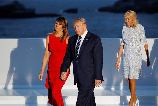 Đệ nhất phu nhân Pháp tốn hơn 400 triệu đồng cho váy áo 3 ngày dự G7 - 4