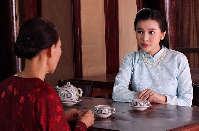 Cao Thái Hà đóng Mợ Hai độc ác trong phim truyền hình Tiếng sét trong mưa.