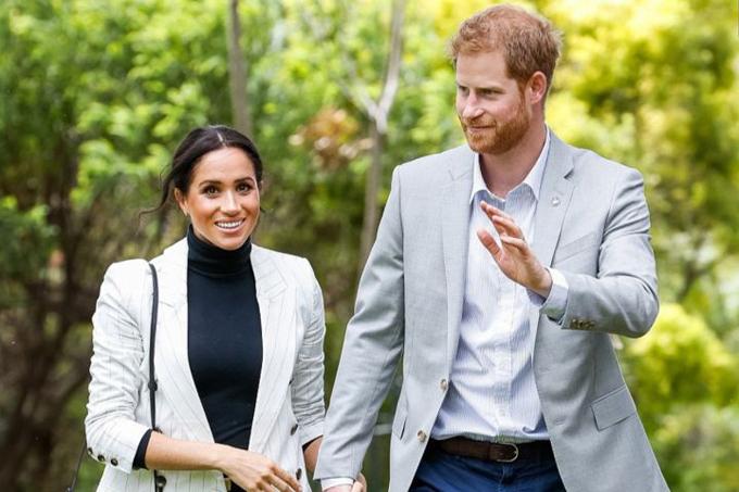 Vợ chồng Harry - Meghan trong chuyến công du tại Sydney hồi tháng 10/2018. Ảnh: PA.