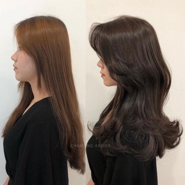 Màu nhuộm sáng có thể khiến mái tóc trông xơ rối, thiếu sức sống. Bạn có thể thử đổi sang màu nhuộm nâu chocolate.