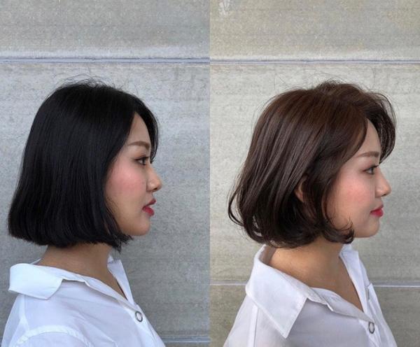 Uốn cụp nhẹ phần đuôi giúp mái tóc bob trông điệu đà và dễ vào nếp hơn.
