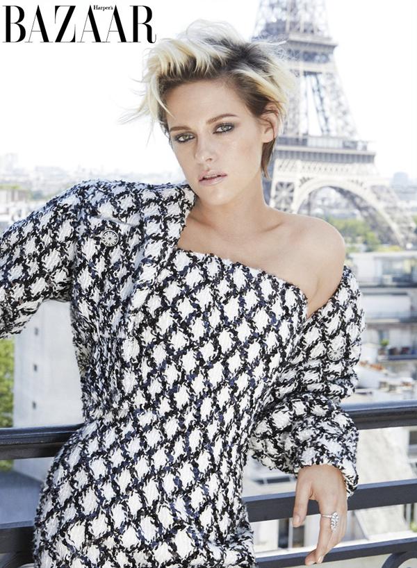 Kristen Stewart trên tạp chí Harper's Bazaar.