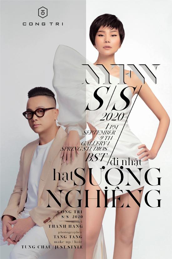 Nhân vật xuất hiện trong poster của bộ sưu tập mới nhất của Công Trí làThanh Hằng. Siêu mẫuđược biến hoá khác lạ với mái tóc tém ngắn rất cá tính.