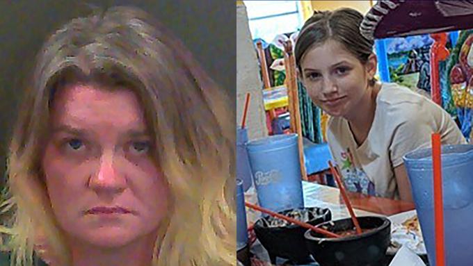 Amanda Carmack hiện bị bắt với cáo buộc sát hại con gái riêng của chồng. Ảnh: ABC News.