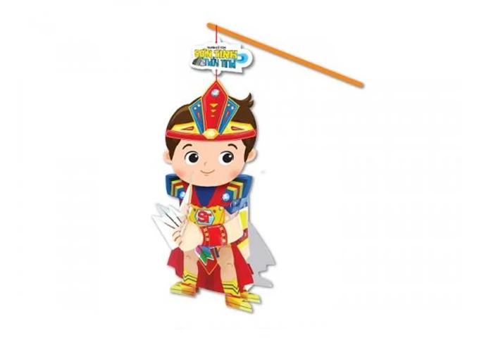 Lồng đèn cổ tích Kibu nhân vật Sơn Tinh trong truyền thuyết Sơn Tinh Thủy Tinh. Cha mẹ có thể kể cho cho con nghe nội dung câu chuyện để giúp bé thêm kiến thức và tình yêu văn học. Giá sản phẩm: 25.000 đồng.