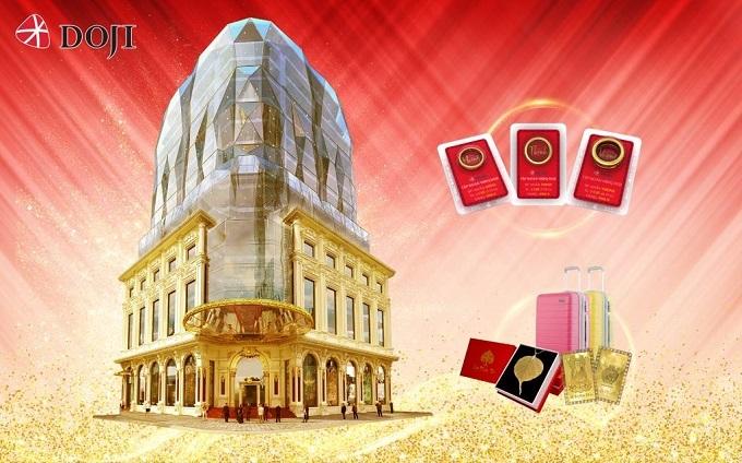 Tọa lạc tại khu phố trung tâm quận Ba Đình, DOJI Tower có diện mạo độc đáo và nổi bật tựa viên kim cương, được thiết kế bởi những kiến trúc sư hàng đầu thế giới đến từ Pháp và Ý. DOJI Tower mang đến không gian mua sắm đẳng cấp, sang trọng, thân thiện, với tổng diện tích mặt sàn hơn 5000 m2, trưng bày và bán hàng ngàn sản phẩm vàng bạc đá quý, trang sức.  Trong tuần lễ mừng khánh thành DOJI Tower, khách hàng mua trang sức kim cương nhận quà tặng tới hàng chục lượng vàng 999.9. DOJI cũng tung list kim cương viên chất lượng phong phú, kích thước đa dạng, kiểm định uy tín với giá hấp dẫn.