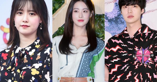 Goo Hye Sun (ngoài cùng bên trái) tố cáo chồng ngoại tình với bạn diễn Oh Yeon Seo (giữa), tuy nhiên cả hai người còn lại phủ nhận. Diễn viên Oh Yeon Seo hiện cũng đâm đơn kiện Goo Hye Sun vì xúc phạm danh dự cô.