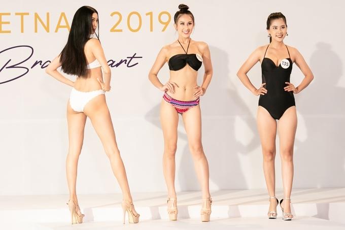 Ở ngày đầu tiên, các thí sinh trải qua vòng đo nhân trắc học, trình diễn bikini và giới thiệu bản thân ngắn gọn trước ban giám khảo. Hai ngày tiếp theo, họ tiếp tục tham gia vòng phỏng vấn kín. Toàn bộ quá trình sơ khảo được ban tổ chức ghi hình và phát sóng trong chuỗi chương trình truyền hình thực tế Tôi là Hoa hậu Hoàn vũ Việt Nam 2019.