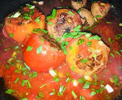 Cà chua nhồi thịt - 5