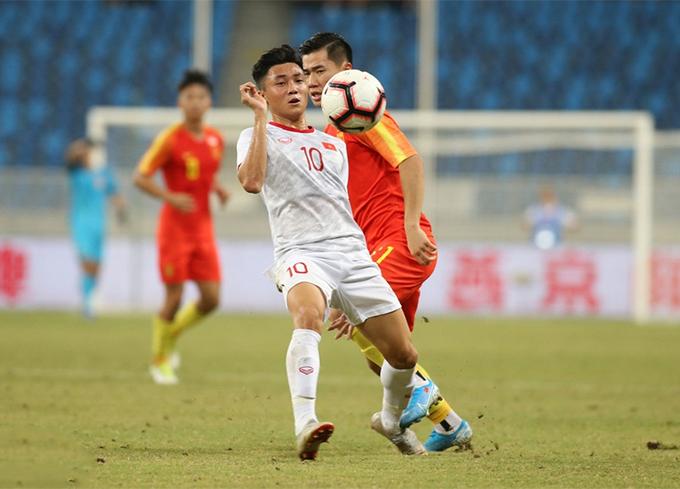 Được chơi trên sân nhà, U22 Trung Quốc chơi lép vế trước Việt Nam và thất bại 0-2 phản ánh đúng cục diện trận đấu. Ảnh: Sina.