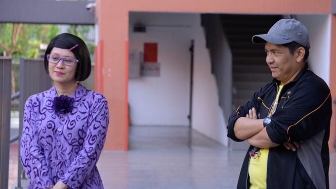 Một cảnh diễn chung hài hước giữa Thanh Thúy và Đức Thịnh.
