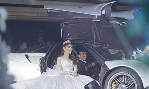 Minh 'Nhựa' lái siêu xe đưa con gái vào lễ đường