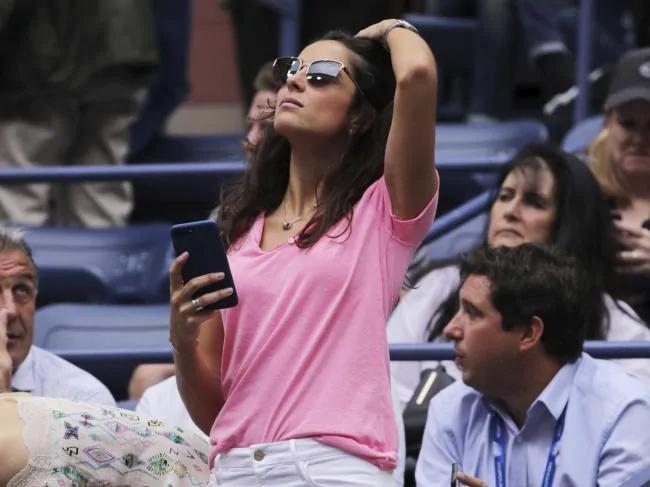 Vợ sắp cưới của Nadal, Xisca, cũng có mặt trên khán đài cổ vũ trong chung kết Mỹ mở rộng.