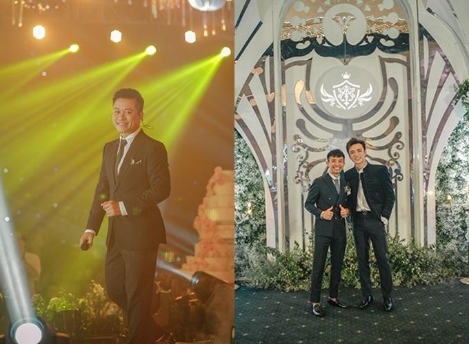Minh Nhựa cũng mời ca sĩ Tuấn Hưng,Soobin Hoàng Sơn thể hiện nhiều ca khúc trẻ trungtrong buổi tiệc.