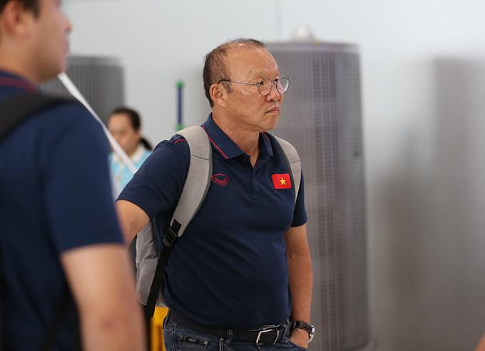 HLV Park vẫn chưa về Việt Nam kể từ chuyến sang Thái Lan hôm 1/9. Ảnh: Đức Đồng.