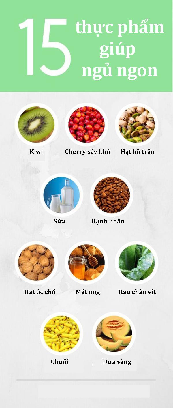 15 thực phẩm giúp ngủ ngon