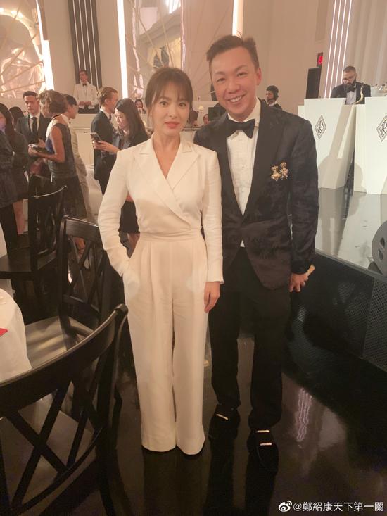 Song Hye Kyo và nhà thiết kếTrịnh Thiệu Khang.