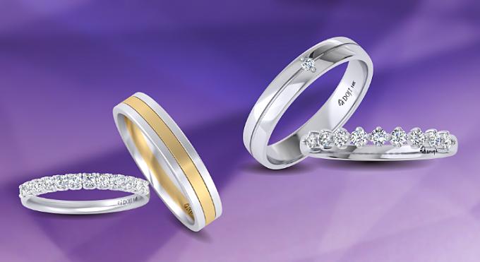 Các cặp uyên ương sẽ được khám phá những câu chuyện tình yêu ý nghĩa phía sau những mẫu nhẫn cưới, nhẫn đính hôn tinh tế, đẳng cấp của Wedding Land.
