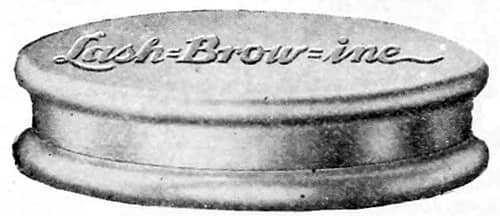 Lash-Brow-Ine được để trong những hộp nhôm vào năm 1917