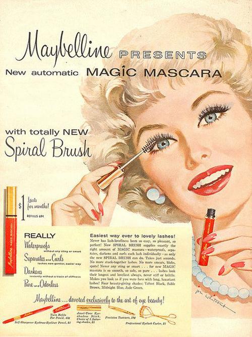 Magic Mascara là sản phẩm đầu tiên của Maybelline sử dụng cọ xoắn ốc.