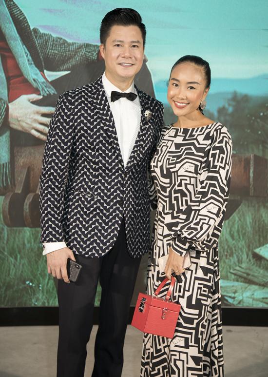 Đoan Trang đến chung vui với Quang Dũng.