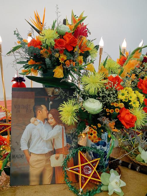 Hôn lễ của Lê Bá Tài, 28 tuổi, nhân viên văn phòng và Trần Ánh Vẹn, 24 tuổi, kinh doanh mỹ phẩm diễn ra ngày 8/9 ở TP HCM.