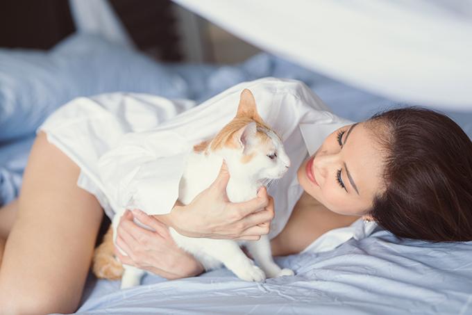 Từ khi có bầu, Phương Mai ít chạy show mà dành chủ yếu thời gian để chăm sóc bản thân và đàn mèo.