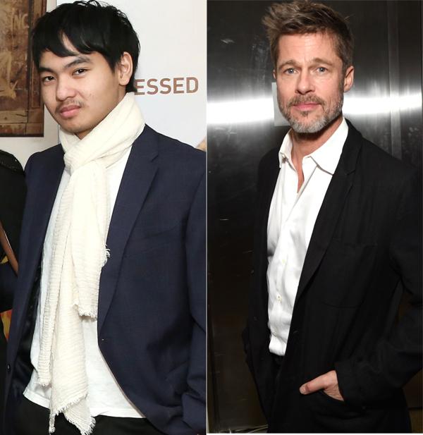 Maddox và tài tử Brad Pitt.