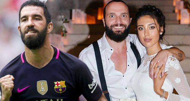 Arda Turan (trái) đánh nhau với ca sĩ Berkay sau khi tán tỉnh vợ của anh này tại hộp đêm. Ảnh: Aksam.