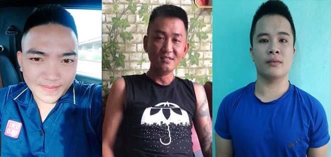 Ba nghi can Tuấn, Phong và Tùng.