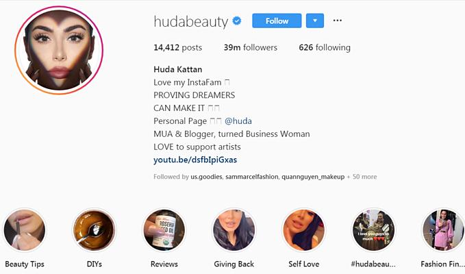 Tất cả video của khách hàng đều được Huda Beauty đưa lên tài khoản chính thức của hãng.