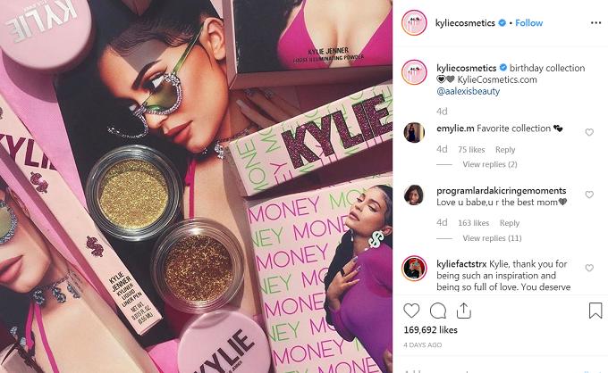 Hình ảnh bộ sưu tập mới của Kylie trên Instagram.