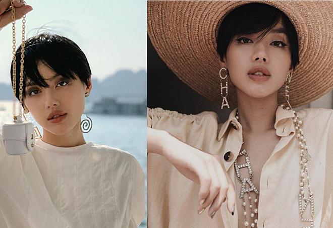 Ngoài son đỏ, Khánh Linh cũng nổi tiếng với tạo hình trong lớp makeup tông nude. Fashionista thường chọn kiểu làm đẹp này khi đi chụp hình hoặc sự kiện thời trang.