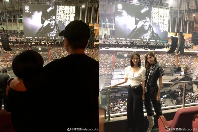 Trên trang cá nhân, vợ Lâm Chí Dĩnh khoe ảnh dự show.