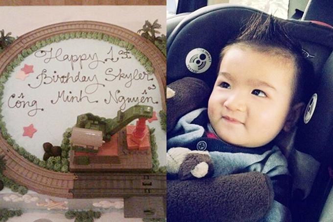 Năm 2012, đôi vợ chồng đón con trai đầu lòng tên Skyler Công Minh. Cuộc sống của gia đình nhỏ qua lời kể của Nguyễn Hồng Nhung khi ấy luôn tràn ngập niềm vui, bình yên.