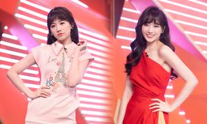 Hari Won 'mê' mặc váy Đỗ Long