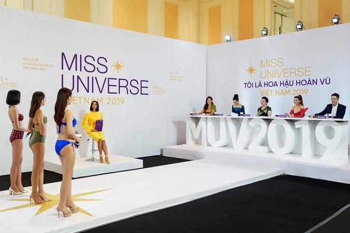 Giống phía Nam, vòng sơ tuyển phía Bắc Hoa hậu Hoàn vũ Việt Nam 2019 cũng diễn ra trong hai ngày. Ở ngày đầu, các thí sinh thi bikini và giới thiệu bản thân trước ban giám khảo. Ngoài trình diễn đơn, họ còn được sắp xếp theo nhóm để tăng tính cạnh tranh.
