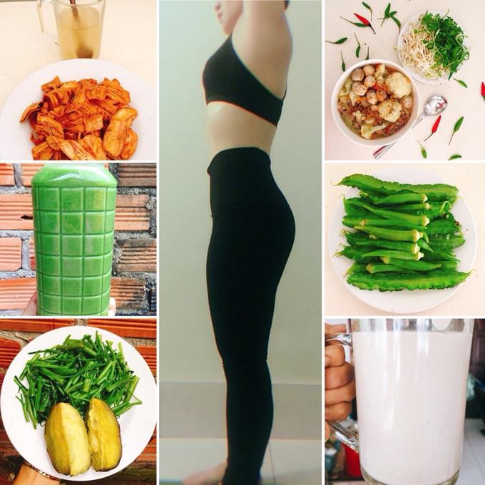 Ăn chay nên Huỳnh Oanh tăng cường các loại hạt để cơ thể có đủ protien cho việc phát triển và giữ cơ.