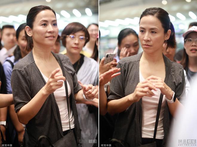 Ở tuổi 49, gương mặt Tuyên Huyên đã lộ rõ vết dấu thời gian. Nữ diễn viên thời gian này đang bận rộn đóng phim Hiện trường phạm tội cùng tài tử Cổ Thiên Lạc. Bộ phim đánh dấu sự tái hợp của cặp sao sau nhiều năm.