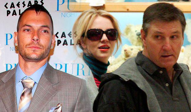 Kevin (bên trái) có mối quan hệ không mấy tốt đẹp với bố Britney vì bất đồng trong vấn đề tiền trợ cấp nuôi con.