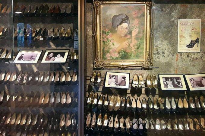 Bộ sưu tập giày của bà Imelda trong bảo tàng ở Manila. Ảnh: Shirley Escalante.