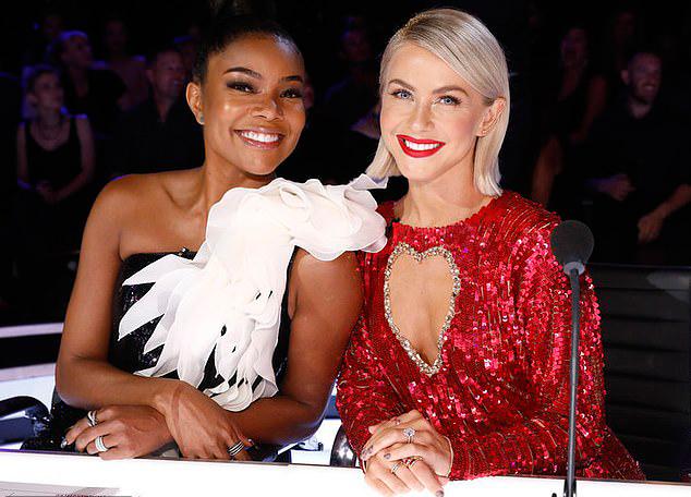 Gabrielle Union và Julianne Hough xinh tươi trên ghế nóng. Hai người đẹp thay thế Mel B và Heidi Klum tại chương trình Americas Got Talent 2019.