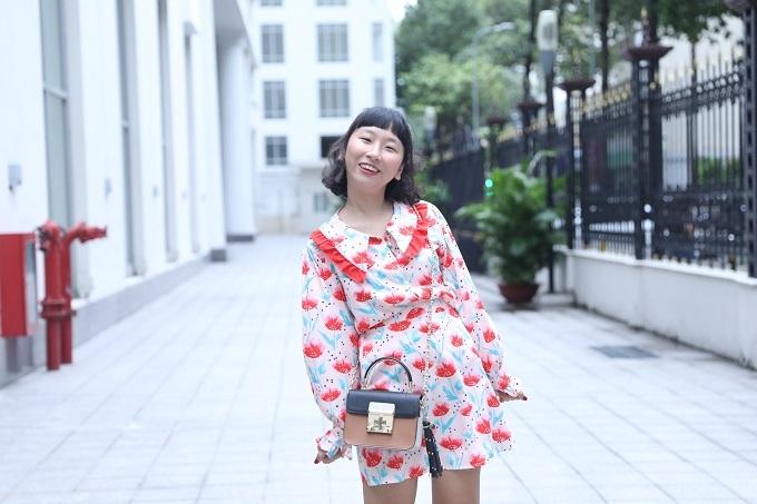 Trang Hý là diễn viên được nhiều bạn trẻ yêu mến nhờ sự cá tính, hài hước, trẻ trung từ phong cách ăn mặc đến trang điểm. Ảnh: Hữu Khoa.